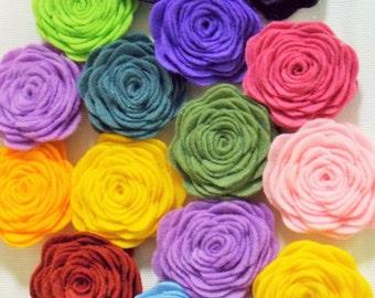 Felt Flowers, headband supplies, flowers bulk, flowers for headbands