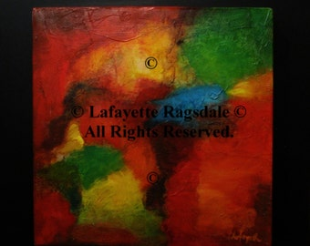 Abstract Original Oil Painting Lafayette Ragsdale