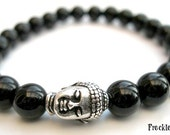 Mens Tibetan Buddha Bracelet - Wrist Mala, Yoga Beads, Spiritual Jewellery