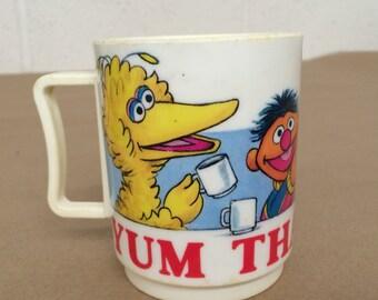 Vintage Plastic Sesame Street Cup