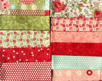 SALE : Bliss Bonnie and Camille moda fabrics 13 FQ set
