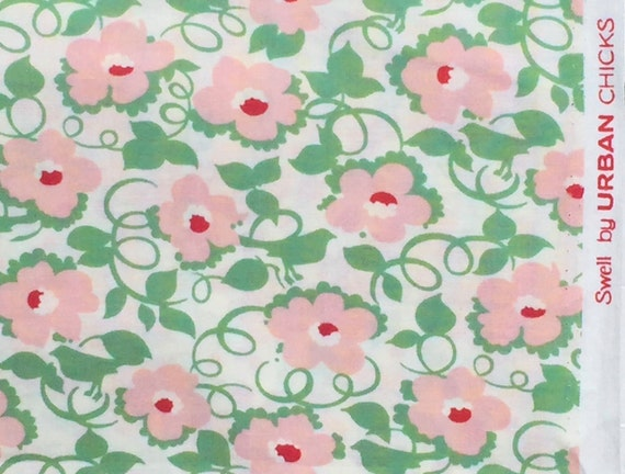 Urban Chiks Swell flowering vine pink moda fabrics FQ or two