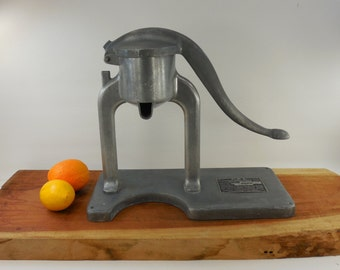 1951 Military Large Industrial Hand Lever Action Citrus Juice Extractor - Orange Lemon Citrus Juicer - Strite-Anderson Mfg.