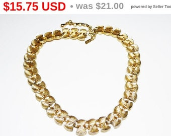 Vintage Monet Choker Necklace - Figure Eight Twisted Bow Links - Classic Designer Signed Jewelry