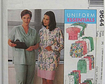 Uniform Essentials Women's Cardigan, Vest, Top, Pants, Skirt, Hat, Scrubs, Nurse, Doctor, McCall's 9644 Sewing Pattern UC Sizes 18-22W