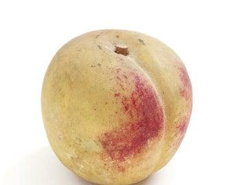 Vintage Hand-Carved Italian Marble Peach
