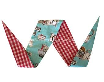 Milk Jug / Red Gingham Reversable bandana