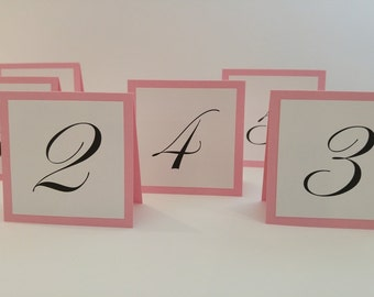 Table Numbers Small Tented Design Great Table Number Idea Elegant Wedding Table Numbers