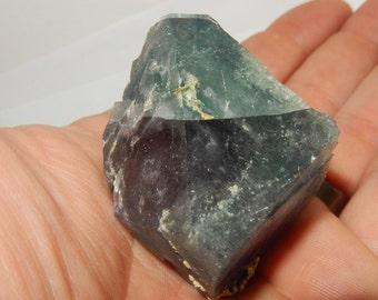 Large Rainbow Fluorite crystal