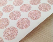 Rose Gold glitter pattern effect stickers - 2.5cm / 3.5cm round stickers - envelope seals - envelope seals - Wedding seals - gift wrap