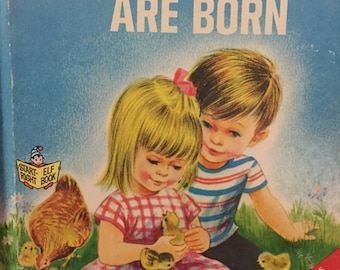 How Chicks are Born vintage children book illustrations chickens hens rooster by Bruce Grant