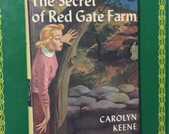 Nancy Drew MYSTERY, Carolyn Keene BOOK girls mysteries adventure  1960 - 70's Secret Red Gate Farm vintage mystery book youn