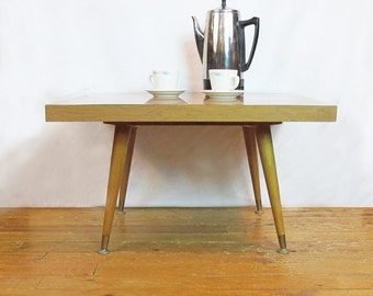 Mid-Century Modern Lazy Susan Coffee Table