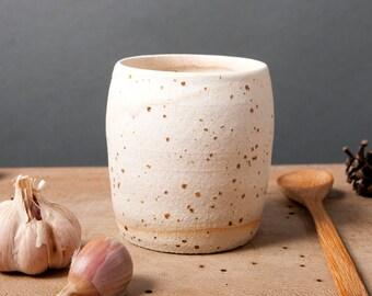 cup creme speckled unique vessel poterie breakfast ceramica polli pots handmade studio white pottery scandinavian
