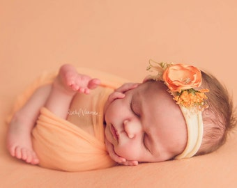 Golden Orange  stretch Headband