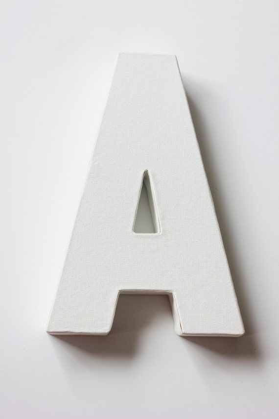 1 canvas letter initial white for painting diy signs and With white canvas letters