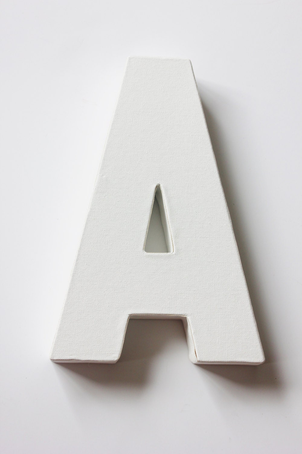 1 canvas letter initial white for painting diy signs and for Letter canvas