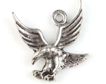 Flying Eagle Style Antique Silver Charm, Antique silver Charms, Eagle Charms, Charms, Flying Eagle Charm - 10pcs
