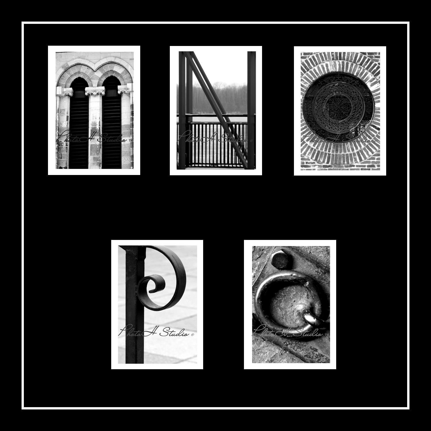 Architectural Letters: Letter M N O P Q Architectural Alphabet 4 X 6 Black And