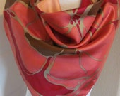 """Lovely Burgundy Pink Soft Acetate Scarf // 28"""" Inch 66cm Square"""