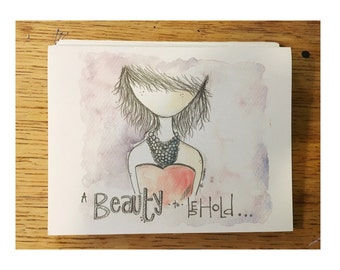 BEAUTY (folded cards) pack of 5