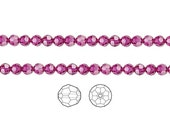 Swarovski Crystal Beads Fuchsia 5000 Faceted Round 4mm Package of 12