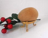 Vintage Gilt Ornamental Egg Stand Holder Display Gold Ornament