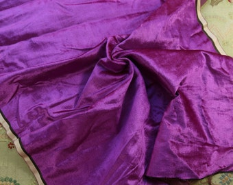 "1/2 yard rare Antique silk velvet panne rich violet purple shade 17"" wide fabric purses bears dolls flapper projects"