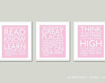 Dr Seuss Quote Print - Nursery Prints - Dr Seuss Wall Art - Nursery Wall Art - Nursery Decor - Children's Room Print - Aldari Art