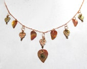 Fairy heart and Leaf Necklace
