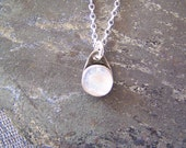 Rainbow Moonstone Necklace in Sterling Silver, READY TO SHIP