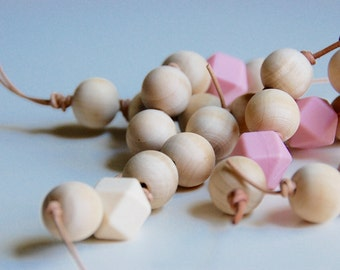Infant Grasping Beads with Rubber Beads