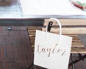Custom gift bags + Wedding gift bags + Bridal shower gift bag + Bachelorette Party bags + Welcome Bags / Handwritten
