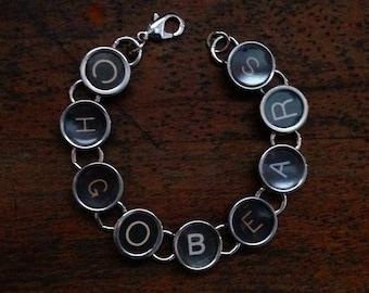 Typewriter Key Bracelet - Says CHGOBEARS