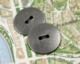 Convex Gunmetal 2 Holes Buttons , 0.91 inch , 10 pcs
