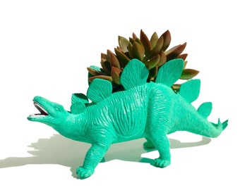 Hank the PLANTED Stegosaurus - the Original Toy Planter