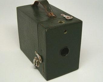 Vintage Camera, GREEN KODAK RAINBOW No 2, Model C Brownie Camera