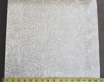Custom Curtains Valance Roman Shade Shower Curtains in Ivory / Gold Damask Pattern Fabric