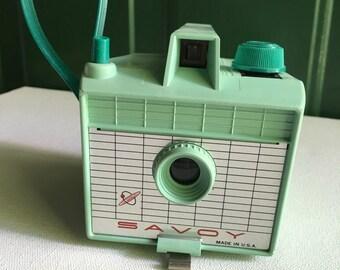 Vintage Mint Green Camera,Savoy Camera, Made in USA