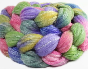 ENGLISH GARDEN Merino/Bamboo/Silk roving (4 pieces) 3.7oz
