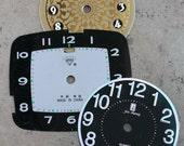 Alarm Clock Faces -- paper -- set of 3 -- D9