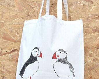 Puffins - tote bag