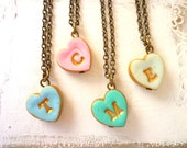 Tiny heart Letter necklace for Girl, 2, 3, 4, 5, 6, 7, 8, 9, 10 years old girl gift