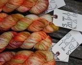 Gold Rush - Hand Dyed Sock Yarn - MCN yarn - Superwash yarn - Grey Green Yellow Teal - dyed by Stimpylab