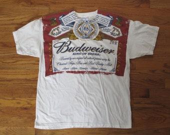 vintage Budweiser large print t shirt