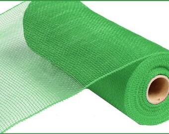 10 Inch Lime Green Deco Mesh Roll RE130268, Deco Mesh Supplies