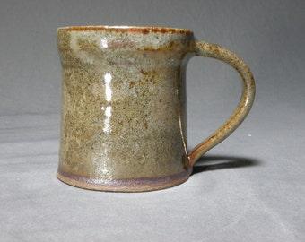 10 oz Coffee cup.   Wheel thrown cup.  Rustic mug.