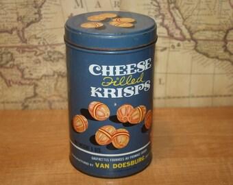 Vintage Van Doesburg Cheese Filled Krisps Tin - item #1358