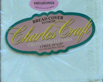 "Ivory Bread Cover - Charles Craft - 14 ct. - 18"" X 18"" Square - Counted Cross Stitch"