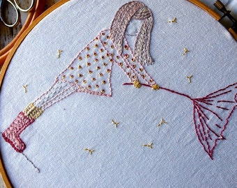 umbrella girl hand embroidery pattern pdf
